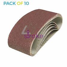 Confezione da 10 GRANA 40 60 x 400mm Nastri Abrasivi SANDERS molto grossolana