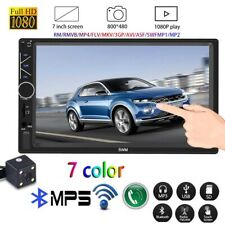 "7 "" Double DIN Car Player FM Stereo Radio Bluetooth USB MP5 MP3 Touch Screen UK"