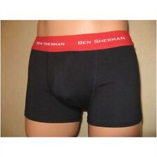NEW MENS BOYS BLACK BEN SHERMAN FITTED BOXER LOW RISE HIPSTER TRUNK MEDIUM 33/35