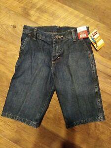Wrangler Utility Blue Jean Denim Shorts Boy 10 NWT