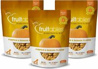 Fruitables 7 oz. Crunchy Baked Dog Treats Pumpkin & Banana Flavor 3-Pack