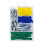 T.K.Excellent Plastic Self Drilling Drywall Ribbed Anchors With Phillips Pan Hea