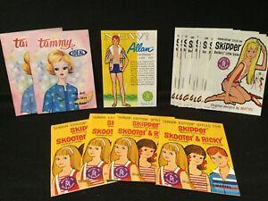 Vintage Lot of 18 Ideal Tammy & Mattel Skipper & Allan Booklets