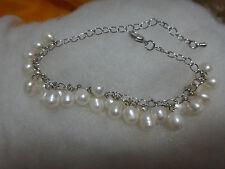 "7.5-8"" natural Australia sea white pearl bracelet"