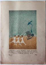 Benn (1905-1989) lithographie originale 28 x 21 et dessin original de 1970