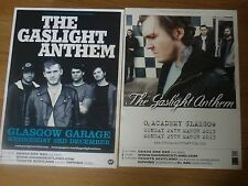 The Gaslight Anthem - Scottish tour Glasgow concert gig posters x 2