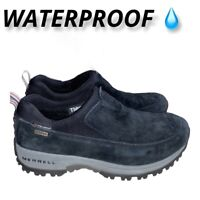 Merrell Polartec Waterproof Moc Thinsulate Womens Size 8 shoes boots slip on Blk