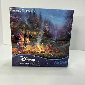 Ceaco Thomas Kinkade Disney Collection Mickey & Minnie Sweetheart 750 Pc Puzzle