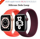 Soft SOLO loop Silicone Strap Apple Watch iWatch nylon rubber leather metal band