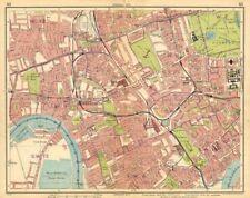 LONDON.Hammersmith Kensington Shepherds Bush Earls Court Notting Hill 1925 map