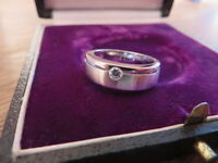 Top 925 Silber Ring Platinoptik Gebürstet Designer Modern Zirkonia Wie Diamant