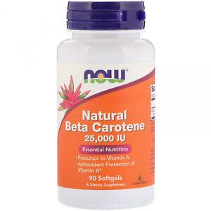 Now Foods, Natural Beta Carotene, 25,000 IU, 90 Softgels