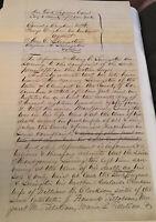 1856 Handwritten NY City Supreme Court Document Croghan vs Eugene Livingston