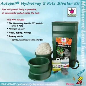 AutoPot 2 Pots Starter Kit Watering Feeding Systems Hydroponics Grow System