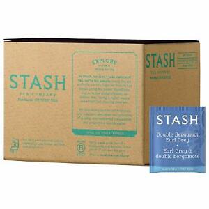 Stash Tea Double Bergamot Earl Grey Tea 100 Count Box of Tea Bags With Bergamot
