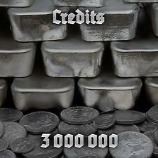 World of Tanks WOT 3 million credits 24 Hours EU/NA No Bonus Code UNICUM