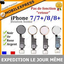 BOUTON HOME + NAPPE COMPLET IPHONE 7 7+ 8 8+ PLUS EN NOIR ARGENT BLANC DORE ROSE