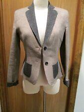 Les Copains Beige Wool Jacket Size 42