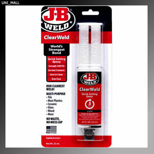 J-B Weld 50112 ClearWeld Quick Setting Epoxy