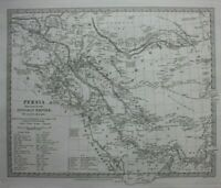 PERSIA, OTTOMAN EMPIRE, IRAN, IRAQ, original antique map, SDUK 1844