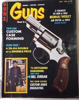 "1976 July VTG Guns Magazine Custom Case Forming 76"" Outstanding Guns Acceptable"