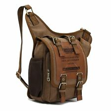 Canvas Vintage Shoulder Messenger Bag School Bag for Men Boys