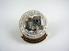 Collectible Pin: Casino Chip & Gaming Token Collectors Club 20 Year Member