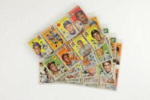 Lot of 45 1954 Topps Baseball Cards w/ HOFers & Stars