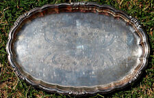Petit plateau ancien plaqué argent / Silver Plated Small Tray