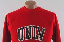 Vtg UNLV Raglan Sweatshirt - Red University of Nevada 50 50: Men's Medium M