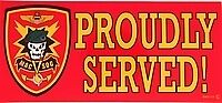 ARMY MAC V SOG  PROUDLY SERVED MILITARY  STICKER DECAL