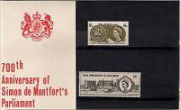 GB 1965 700th Anniversary Of Simon De Montfort's Parliament Presentation Pack