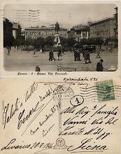 Livorno, piazza Vittorio Emanuele, viaggiata 1926, animata
