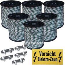 1200 m Weideband 20 mm 6 Niroleiter 5 Verbinder+1 Warnschild