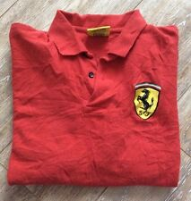 Ferrari Polo Shirt Red Size XL Logo On Chest And Back EUC