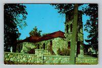 The Irish Hills MI, St Joseph Catholic Church, Chrome Michigan Postcard