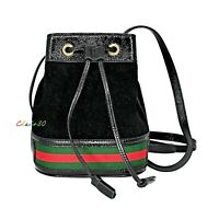 NWT Authentic Gucci Ophidia Suede and Leather Mini Bucket Bag