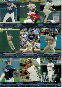 2005 San Diego Padres Upper Deck Uncut Sheet (Gwynn, Winfield, Peavy & Nevin)