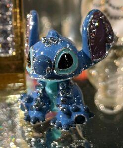 Disney Arribas Brothers Swarovski® Crystal Sitting Stitch Jeweled Mini Figure