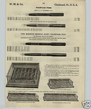 1913 PAPER AD Waterman & Co Fountain Pens Store Display Showcase Counter Holland
