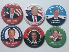 "6 2020 Republican Presidential Challenger 3"" Button Set President Donald Trump"