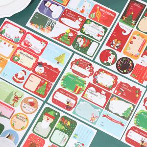 108Pcs/12Sheets Christmas Stickers Packaging Sealing Labels Baking Gift DecorYF