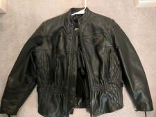 Harley Davidson women's FXRG heavy duty leather jacket vented w/removable liner
