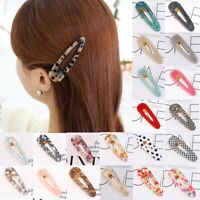 Fashion Women's Hair Slide Clips Snap Barrette Hairpin Pins Hair Accessories