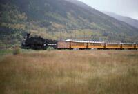 DURANGO & SILVERTON Railroad Steam Locomotive CO Original 1991 Photo Slide