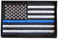 Tactical Police law enforcement Thin Blue Line United States Flag IRON ON Patch
