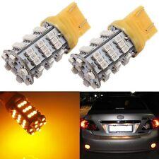 2x T20 7443/7440 3528 SMD 54 LED Amber Yellow Turn Signal Blinker Light bulb