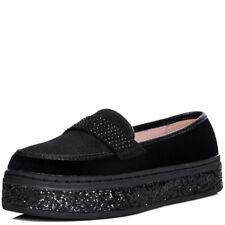 Mocasín Zapatos Planos Para Mujer Plataforma De Brillo