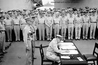 "General Douglas McArthur Japan Surrender 4""x6"" World War II WW2 Photo 50"