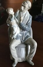 "Vintage Retired Lladro The Grandfather # 4654 12"" No Box Mint Condition NR"